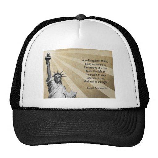 Second Amendment Mesh Hats