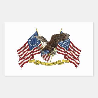 Second Amendment Liberty Eagle Rectangular Sticker
