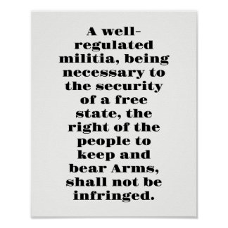 Second Amendment Poster