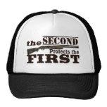 Second Amendment Protects First Amendment Trucker Hat