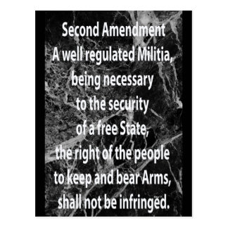 Second Amendment to United States Constitution Postcard