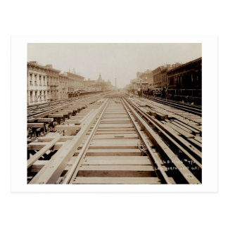 Second Ave View North From 56th Street NYC Rails Postcard