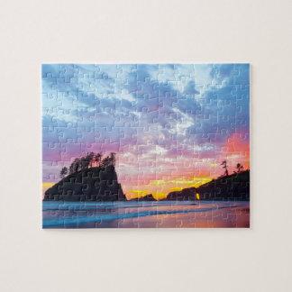 Second Beach at sunset, Washington Jigsaw Puzzle