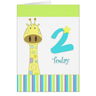 Second birthday boy card
