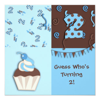Second Birthday : Boy : Invitation