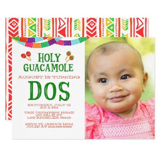SECOND BIRTHDAY FIESTA - PHOTO - DOS CARD