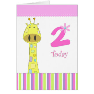 Second birthday girl card