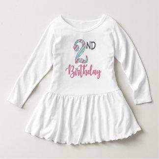 Second Birthday Girl Long Sleeve Ruffle Dress