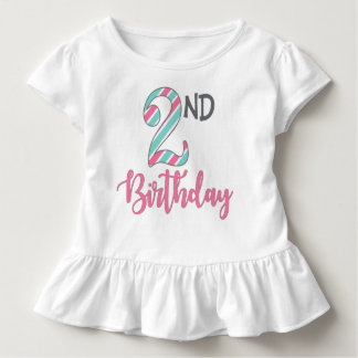 Second Birthday Little Girl Ruffle Tshirt