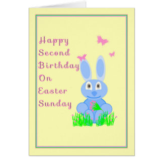 Second Birthday on Easter Sunday Card