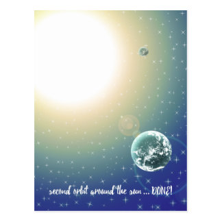 Second Birthday Orbit Around the Sun Postcard