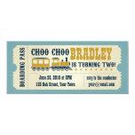 "Second Birthday Train Ticket Invitation 4"" X 9.25"" Invitation Card"