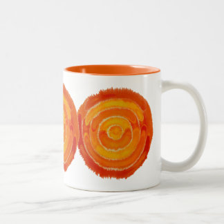 Second Chakra Healing Art #1 Two-Tone Coffee Mug