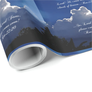 Second Coming Scripture Wrapping Paper