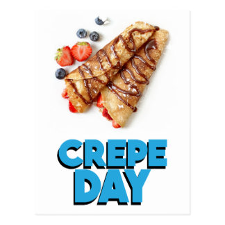 Second February - Crepe Day - Appreciation Day Postcard