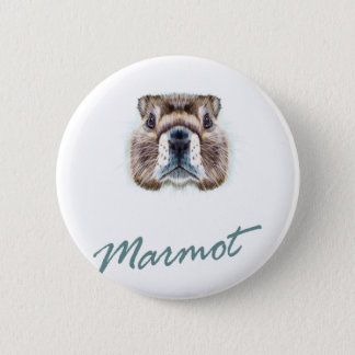 Second February - Marmot Day 6 Cm Round Badge
