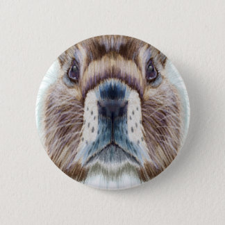 Second February - Marmot Day - Appreciation Day 6 Cm Round Badge