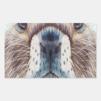 Second February - Marmot Day - Appreciation Day Rectangular Sticker