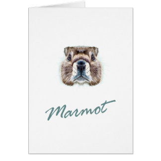 Second February - Marmot Day Card