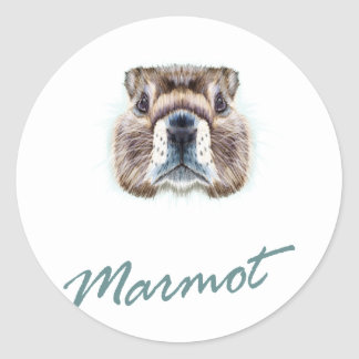 Second February - Marmot Day Classic Round Sticker