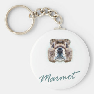 Second February - Marmot Day Key Ring