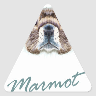 Second February - Marmot Day Triangle Sticker