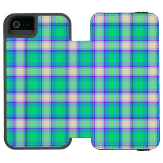 Second Fibonacci Plaid Nerdy Math Tartan Incipio Watson™ iPhone 5 Wallet Case