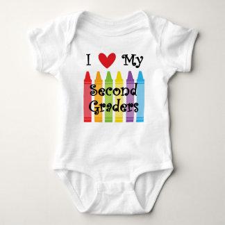 second grade teacher2 baby bodysuit