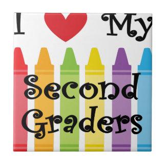 second grade teacher2 ceramic tile