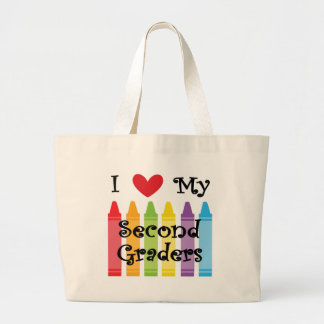 second grade teacher2 large tote bag