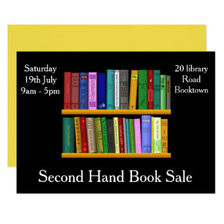 Second Hand Book sale flyer Card