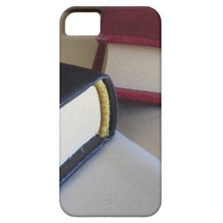 Second hand books with blank pages on a table barely there iPhone 5 case