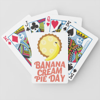 Second March - Banana Cream Pie Day Bicycle Playing Cards