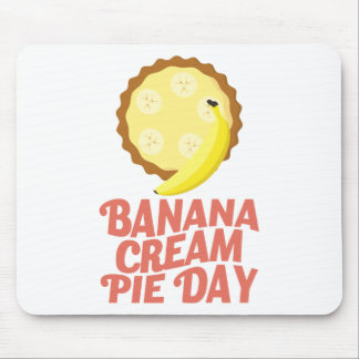 Second March - Banana Cream Pie Day Mouse Pad