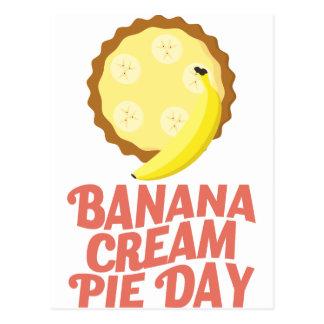 Second March - Banana Cream Pie Day Postcard