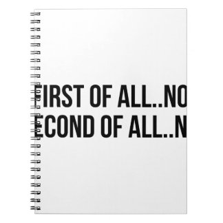 Second Of All Notebooks