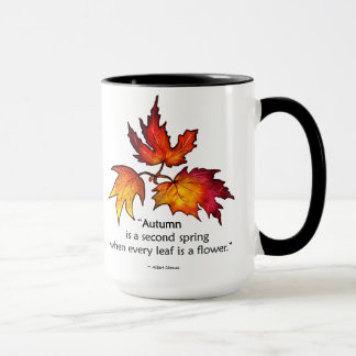 Second Spring Fall Leaves Autumn Drink Mug