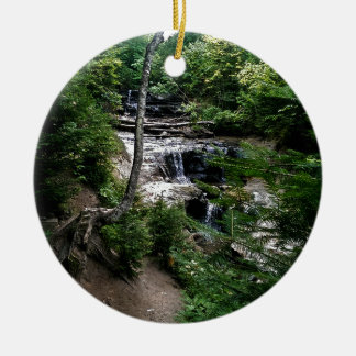Secrect waterfall round ceramic decoration