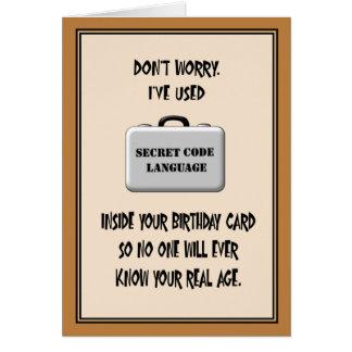 Secret 60th Birthday Humor Greeting Card