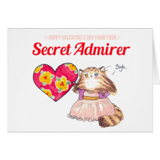 Secret Admirer valentine Card