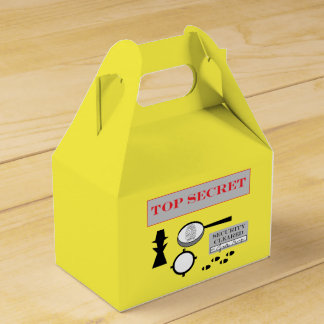 """Secret Agent/Spy"" Party Favor Box"