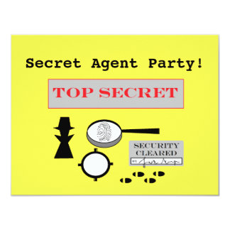 """Secret Agent/Spy"" Party Invitations"