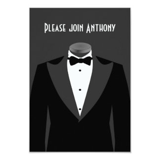 Secret Agent Themed birthday party invite