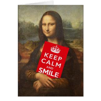 Secret Behind Mona Lisa's Smile Card