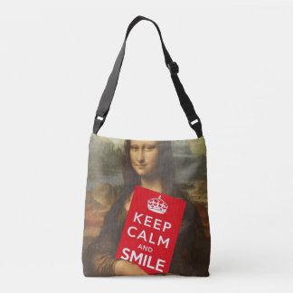 Secret Behind Mona Lisa's Smile Crossbody Bag