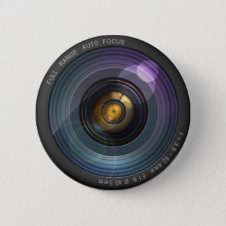 secret camera lens 6 cm round badge