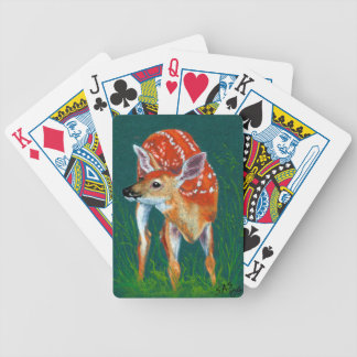 Secret Deer Fawn Wildlife Bicycle Playing Cards