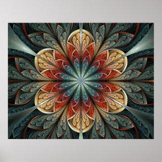 Secret Garden Abstract Fractal Art Poster