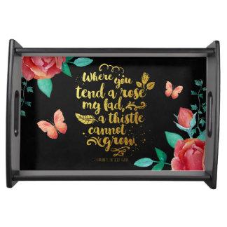 Secret Garden Black & Gold tray