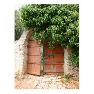 Secret Garden Gate Postcard